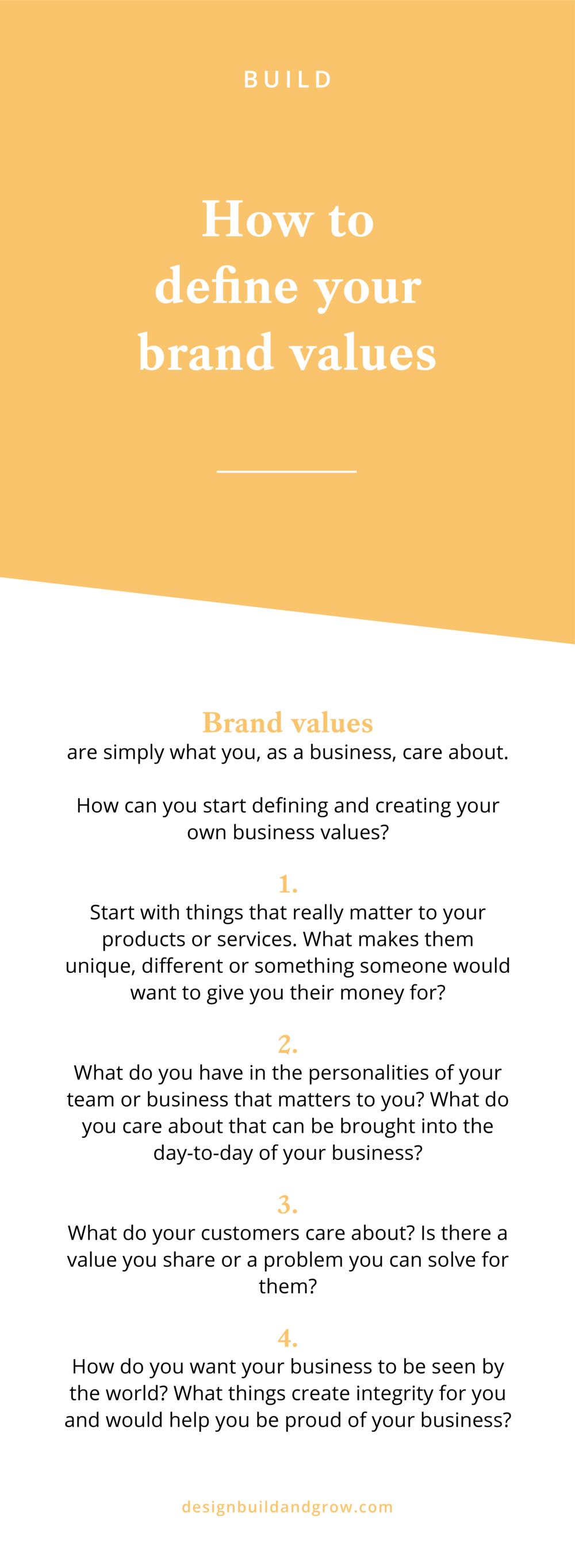 How to define your brand values