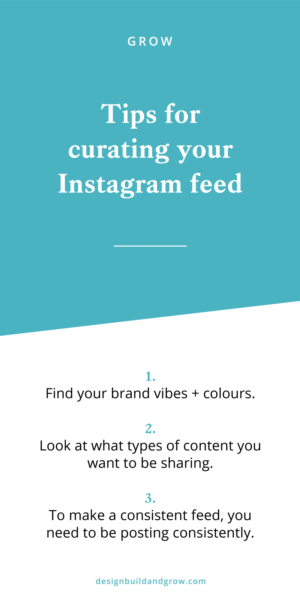 Curate your instagram feed to match your brand with these tips from Salt Design Co.