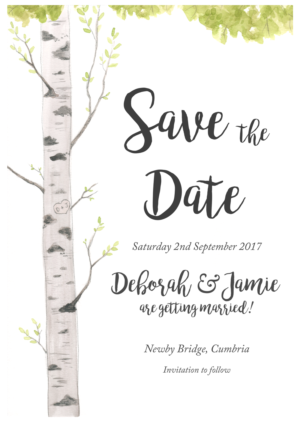 Wedding Stationary: Save the Date