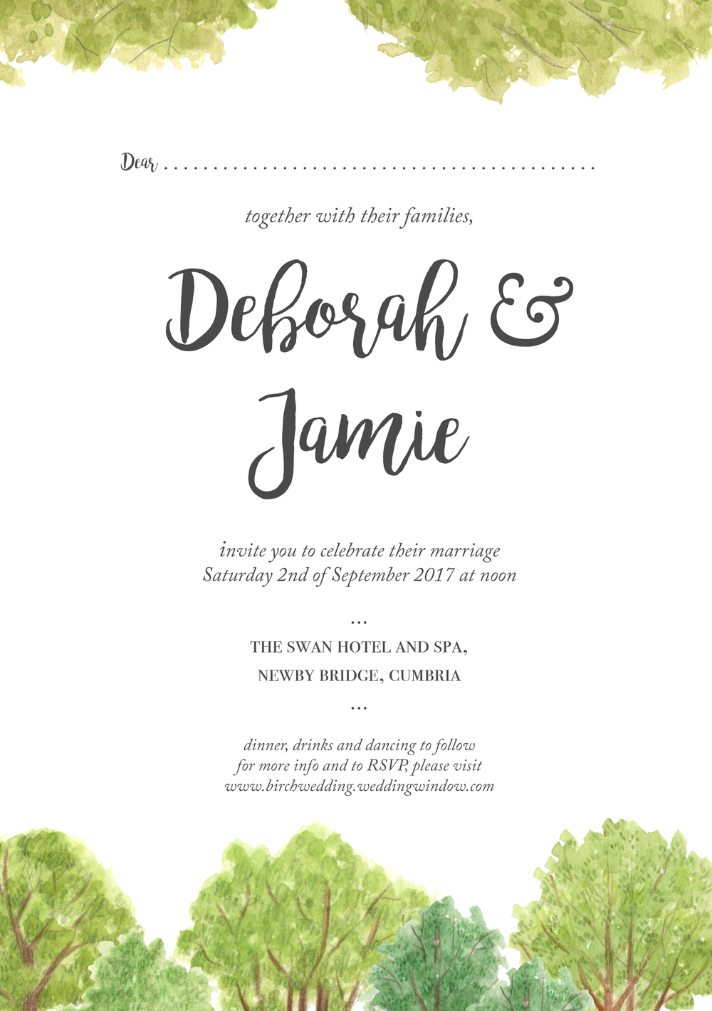 Wedding Stationary: Invitation