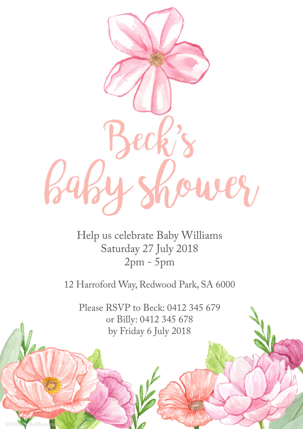 Baby Shower Invitation Commission