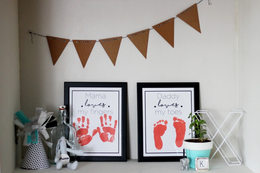 DIY Projects + Prints - MAMA LOVES MY FINGERS, DADDY LOVES MY TOES - All Kids Are Gifted