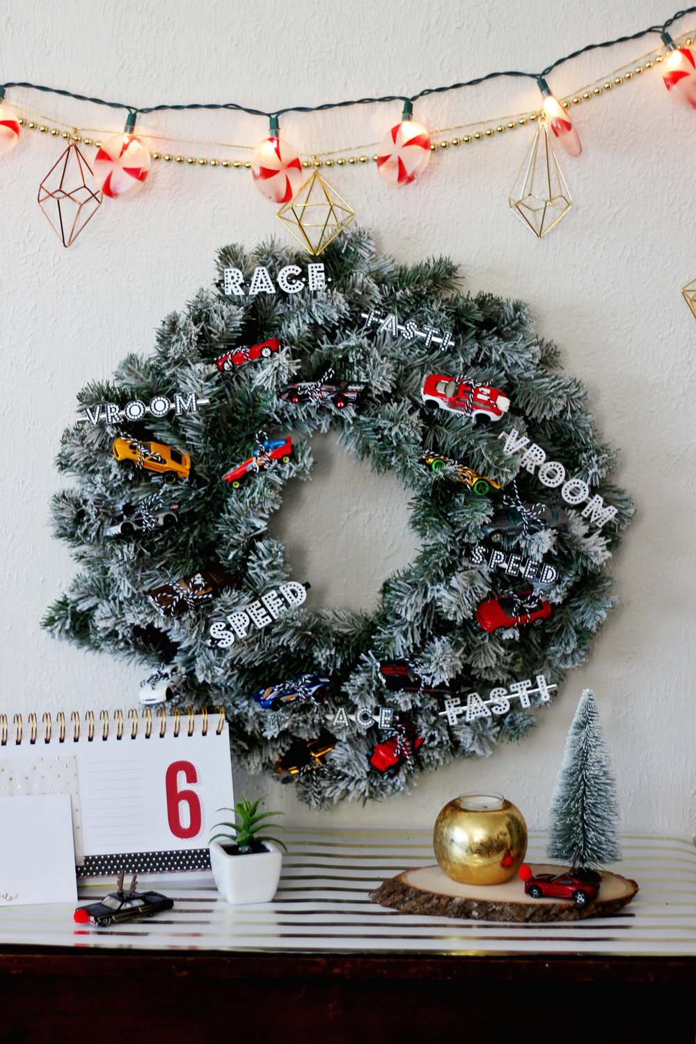 DIY Projects — HOT WHEELS CHRISTMAS WREATH DIY — All Kids Are Gifted
