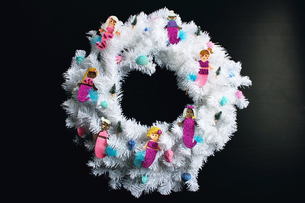 DIY Projects — MERMAID CHRISTMAS WREATH DIY — All Kids Are Gifted