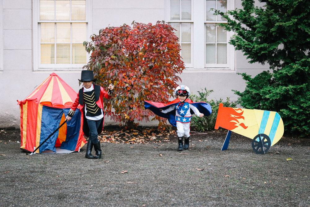 DIY Projects - KID COSTUMES: CIRCUS CONDUCTOR + HUMAN CANNONBALL - All Kids Are Gifted