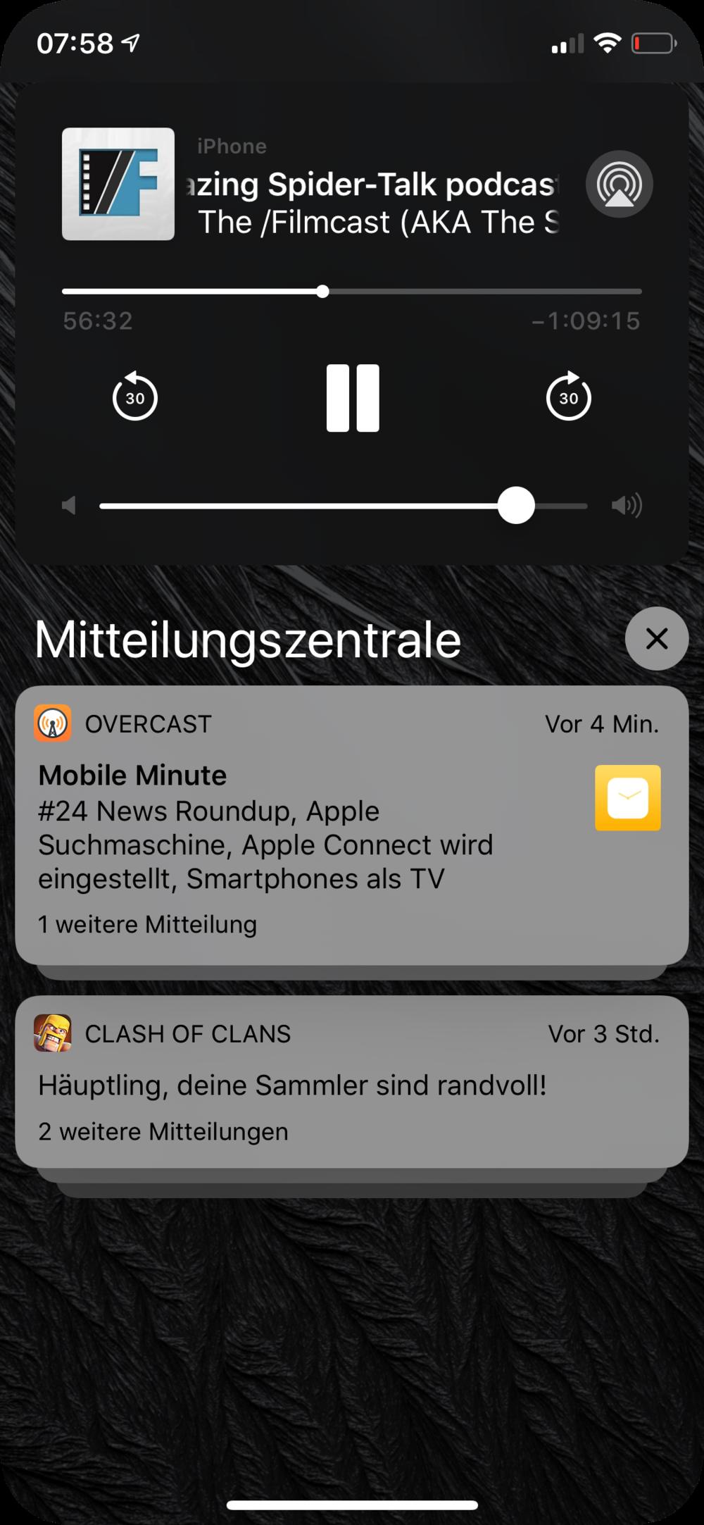 Notifications einer App werden gruppiert…