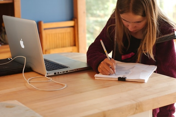 If your student already has a computer, isn't it time she learned how to use it? Being able to do just that is the whole purpose of learning to code.