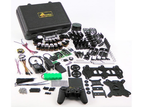 Although this looks complex, a kit like this can provide much more fun than a simple plaything. This is an advanced robotics kit, so don't be scared. Beginner's kits are far less intimidating.