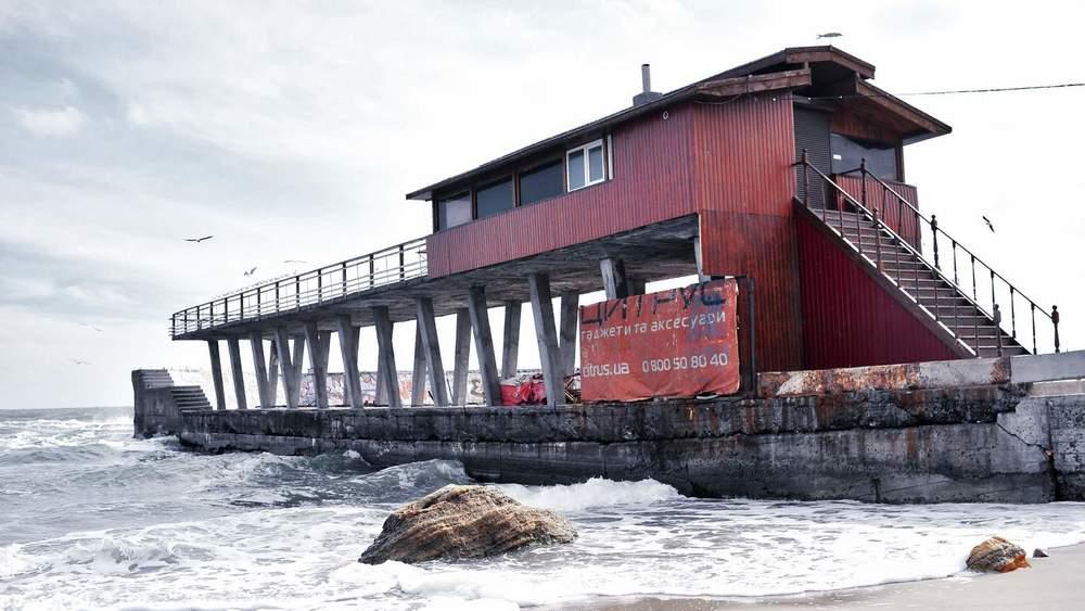 The pier hut