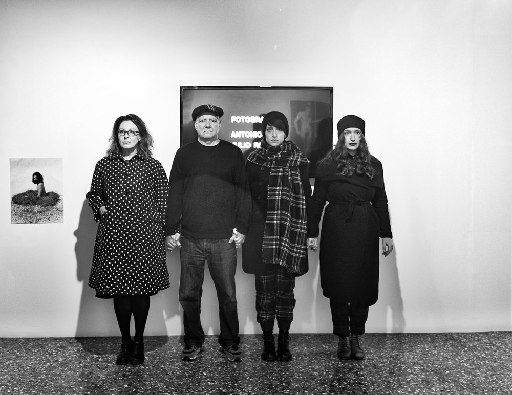 With Marisa Abate (left), Cristiana Zeta Rolla and Francesca Carol Rolla