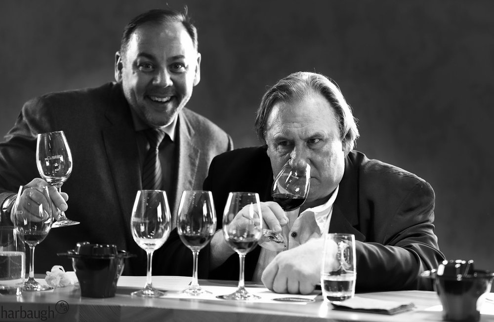Wine tasting with Fred M. and his friend Gérard Depardieu