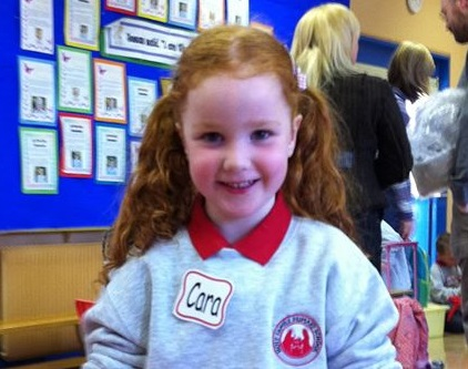 Cara's first day at school