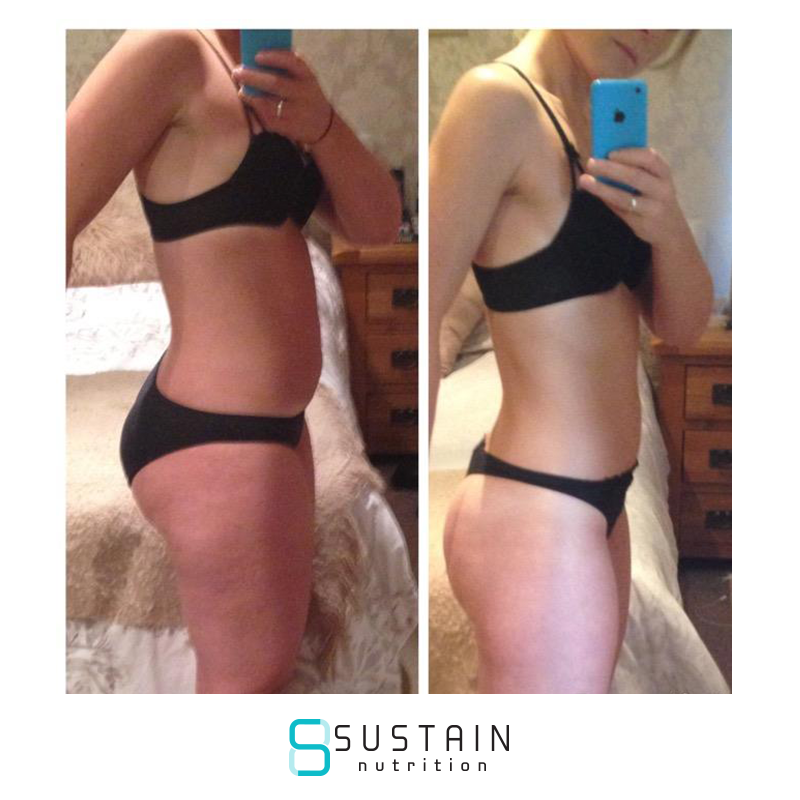 Steph - After years of yo yo dieting and trying loads of diets I finally found Sustain in September.I was the heaviest I had been for a long time, binge eating most days and really upset with the way I looked. I did the 7 day trial and found it so easy, not having to weigh food or count calories was a revelation!I've just finished the 12 weeks plan and I'm thrilled with my results, I can't believe how easy I've found it all. I'm normally the sort of person that falls off the wagon after a few days but with Sustain its just like something has clicked in my brain and completely changed my way of thinking about food.I can't thank Joe enough for his help and support along the way and I finally feel I'm in control of my eating habits.I will continue to do the monthly plan as for me the accountability is key. This plan really has changed my life
