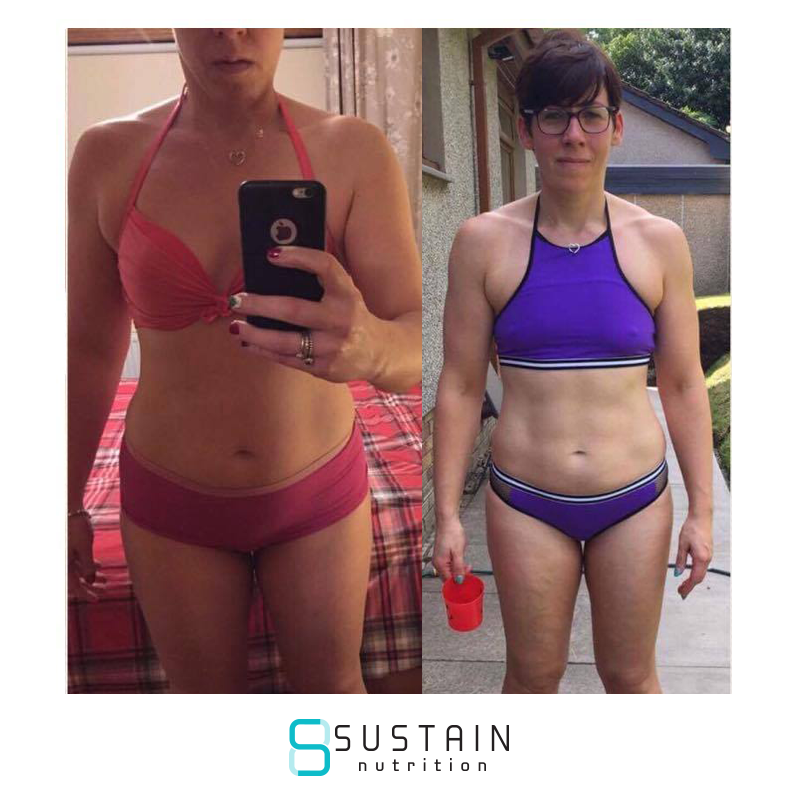 Oni - Before I began my Sustain journey, I had had some success with Body Coach but as soon as a cycle was finished I would have a reward. I quickly realised that I wasn't changing any of my habits. I was feeling disheartened as I could see the weight creeping back on. I came across Sustain Nutrition in November and have managed to make the changes sustainable. The personal support and accountability really made me think about the choices I was making and I realised that I was always in control, nobody was making me make them.Sustain has taught me to change my mindset and choose not to have something, to really think about what my goals are and if it will make me happy or not. I still make choices to eat cake - but I am doing it on my terms 🙂 I am so grateful that I found the Sustain Nutrition plan and finally feel I am making progress with my eating and exercising. As I approach my 40th birthday I am so much happier in my skin than ever.