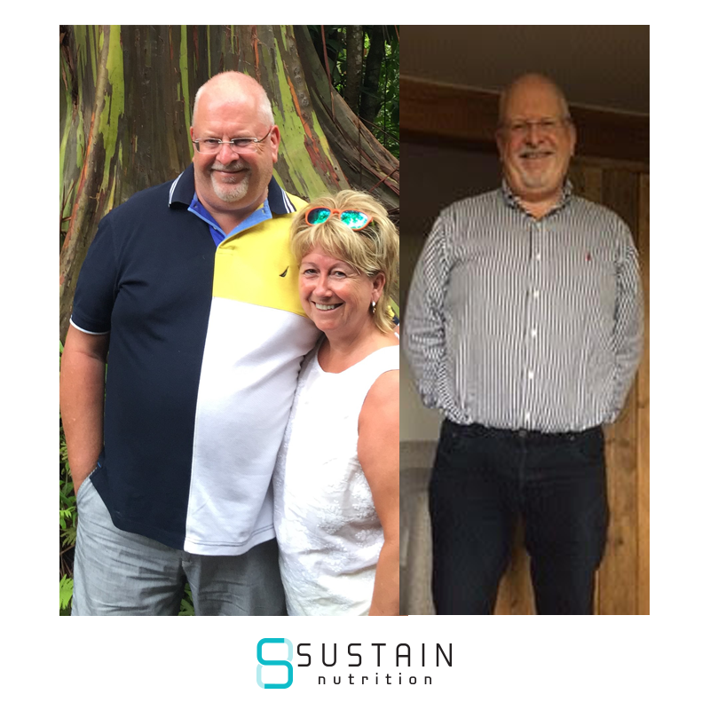 "nigel - I found Sustain. I hesitated at first – the transformations looked great, but could I really manage that? Surely I'd have to starve myself….. And why was it a 12 week programme – it hadtaken me 40 years to learn what to eat to get to that shape so no way was it only going to take 12 weeks to learn new habits.I only signed up when Joe & James said they would coach me for as long as I needed it – partly because I didn't know how long I would need and partly because I felt I could blame my coach if it didn't work for me!And I decided that I'd quite like to see my Adams Apple again, to catch up and see how it was getting on.As you can see, it was quite well hidden.So, I've now been on the plan with a coach for 6 months. And this is me now.I've not yet found my Adams Apple but I'm a lot closer:So, still some way to go, but I'm getting there! It's been much easier than I expected, mainly because I've never stopped having a coach. I've seen lots of comments on the Nation from people who did the plan for 12 weeks, went on their own and while some have maintained or continued to lose weight, many seem to have put some weight back on. And I don't want to do that, I'm tired of trying to lose weight regularly, achieving short-term success only to find it creeps back on as soon as I lose focus.My coach has been invaluable. Yes, it's partly about the accountability of sending in a daily food diary (that helps me focus), but it's mainly about the support and encouragement. I never look for my daily score now as it's always 10/10. Instead, I look for the hints and tips such as ""time to increase your water intake now"", ""think about having more green veg"" and ""how about increasing your exercise"".Every time I've taken their advice it has worked – and that's why I'll continue to use a coach until I'm happy with my weight and have maintained it."