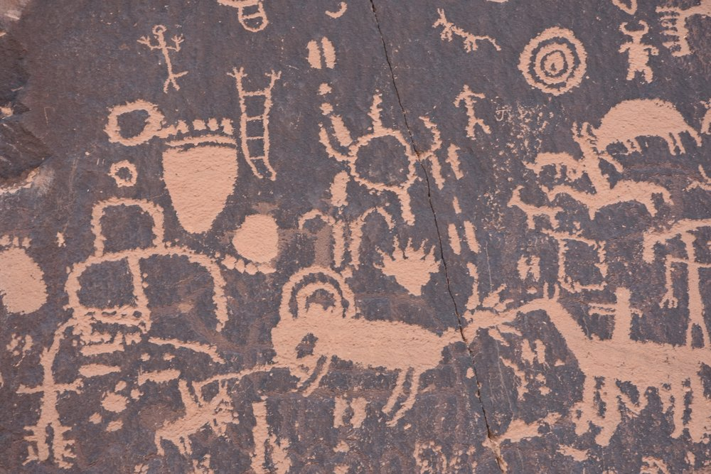 Newspaper Rock close up