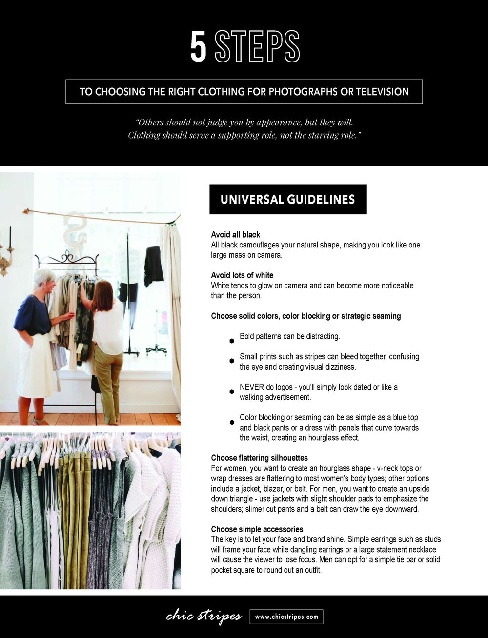 what to wear to look good in photographs