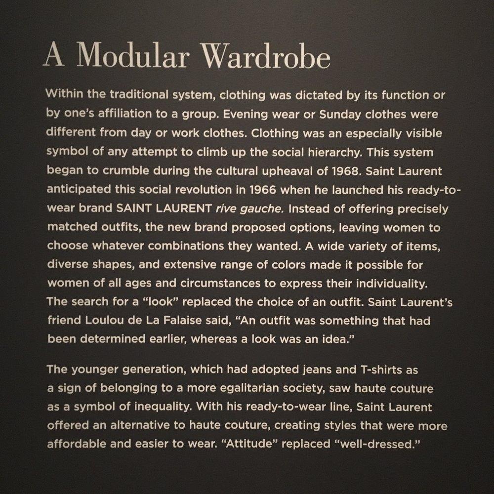 ysl modular wardrobe