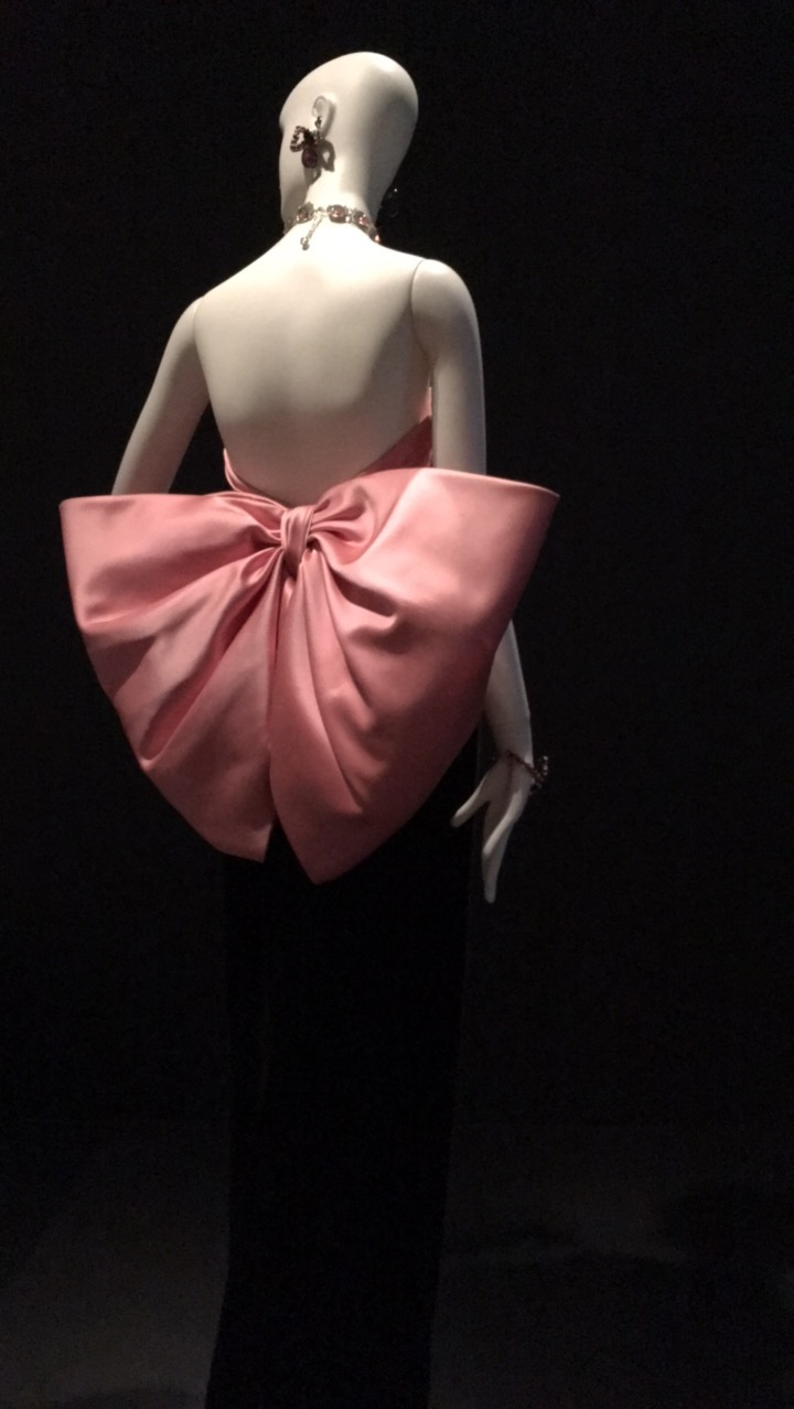 ysl pink bow dress