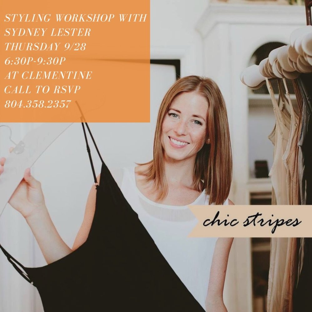 clementine styling workshop