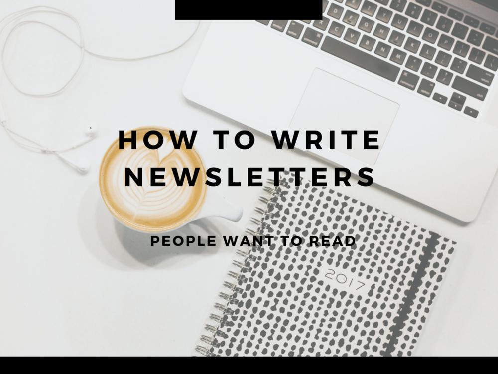 newsletter workshop