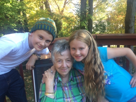 Chace, Great Grandma, and Lexi