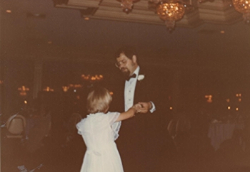 Dad and I dancing.