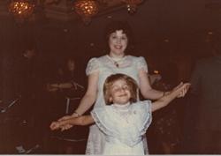 Mom and I dancing