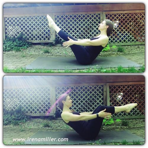navasana boat yoga irena