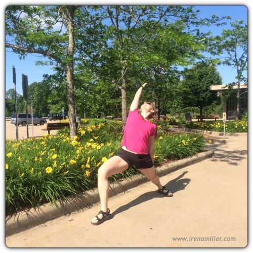 travel yoga warrior