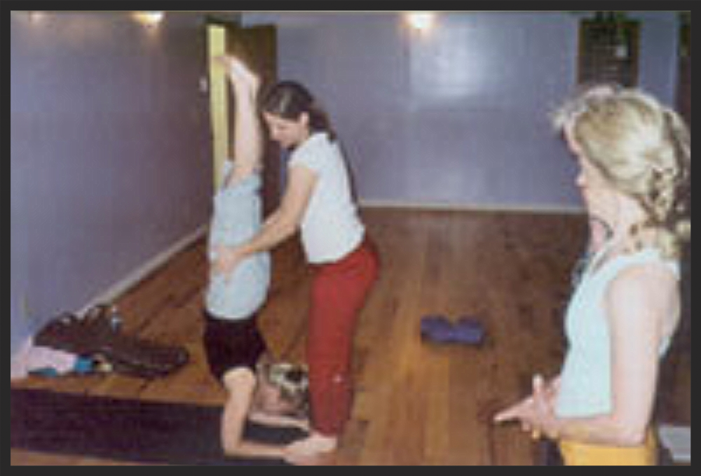 fall yoga irena assisting