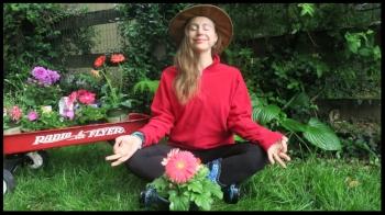 irena yoga sukhasana contented pose