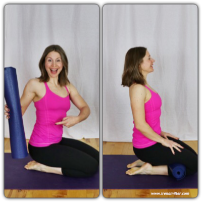 5 Simple Yoga Poses for a Happy Lower Back with Irena Miller. www.irenamiller.com