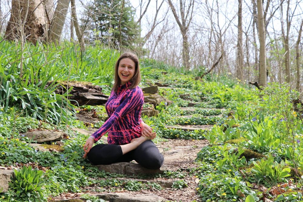 spring yoga challenge irena www.irenamiller.com