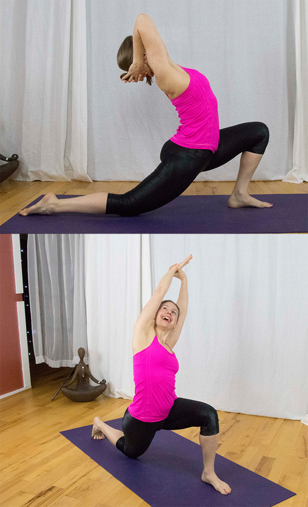 Crosstrain with Yoga for Spinners, Cyclists, Runners. Reduce fatigue in tight thighs, (quadriceps) and let go of tight hip flexors. Lower back pain relief. www.irenamiller.com