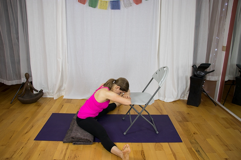 wide legged restorative with chair www.irenamiller.com yoga with irena
