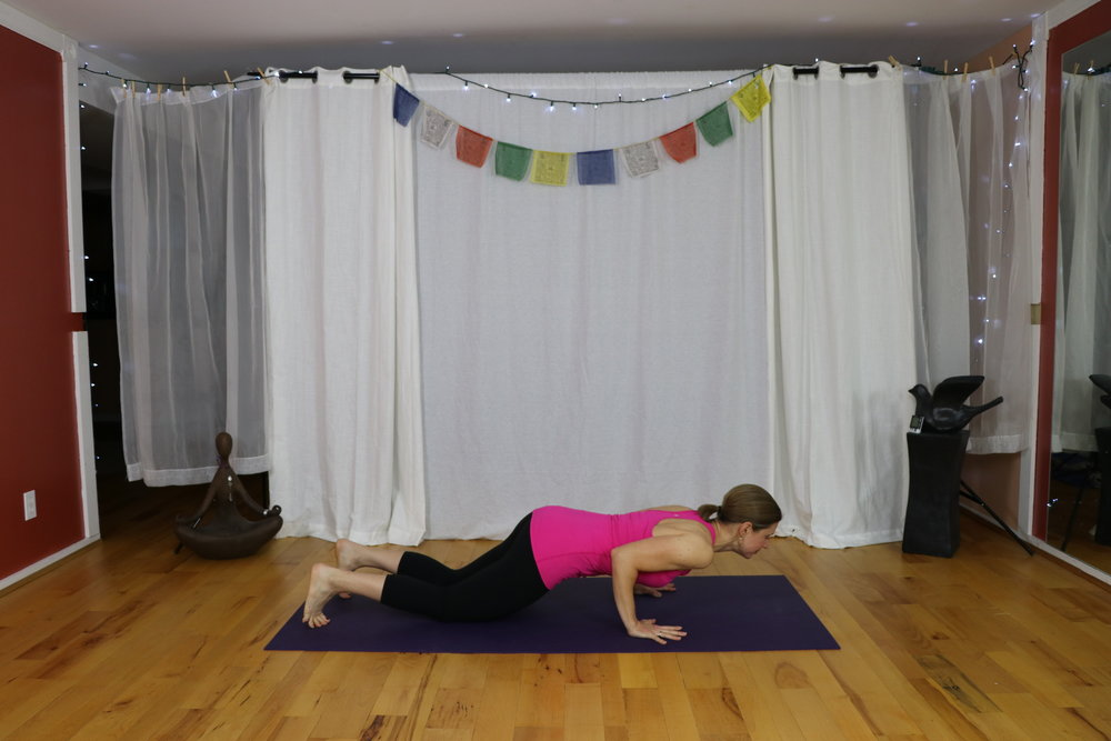 How to do chaturanga safely. www.irenamiller.com Yoga with Irena