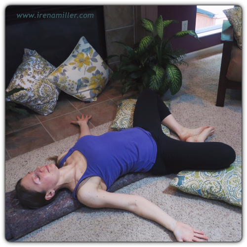 Restorative Yoga can help reduce your risk of getting sick. Yoga with Irena www.irenamiller.com
