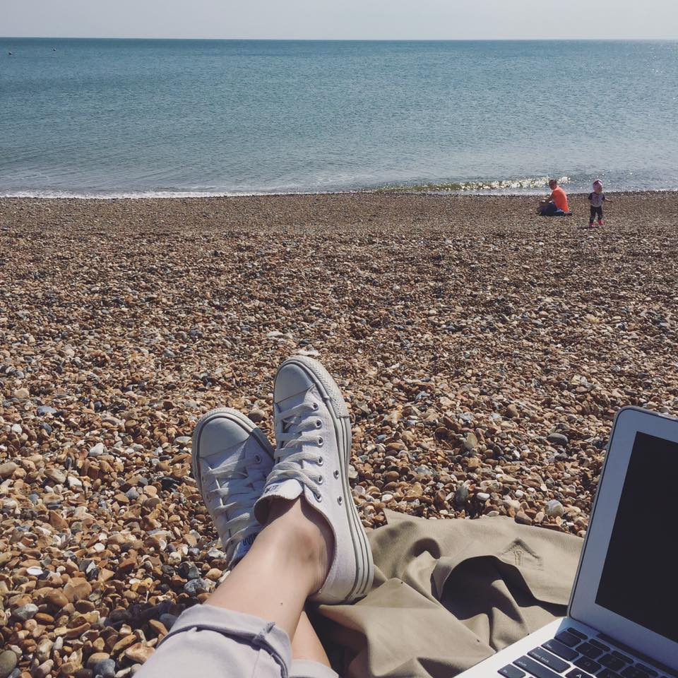 (Typing up field notes between surgery meetings. Sussex, 2016)