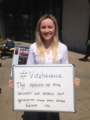 Royal Holloway students were at the forefront of #votebecause activity.
