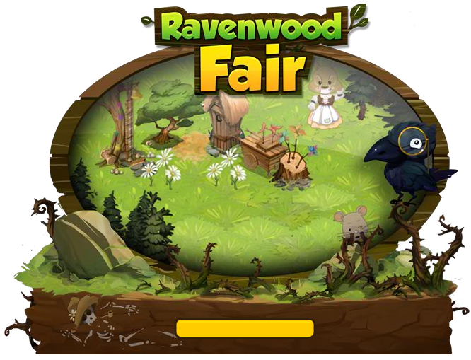 Ravenwood Fair loading screen during development. Note the skeleton in the dirt.