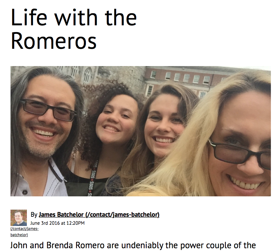 Develop: Life With the Romeros