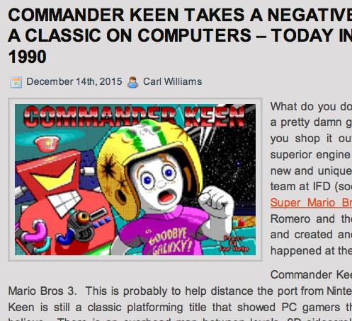 Retro Gaming Mag: Keen