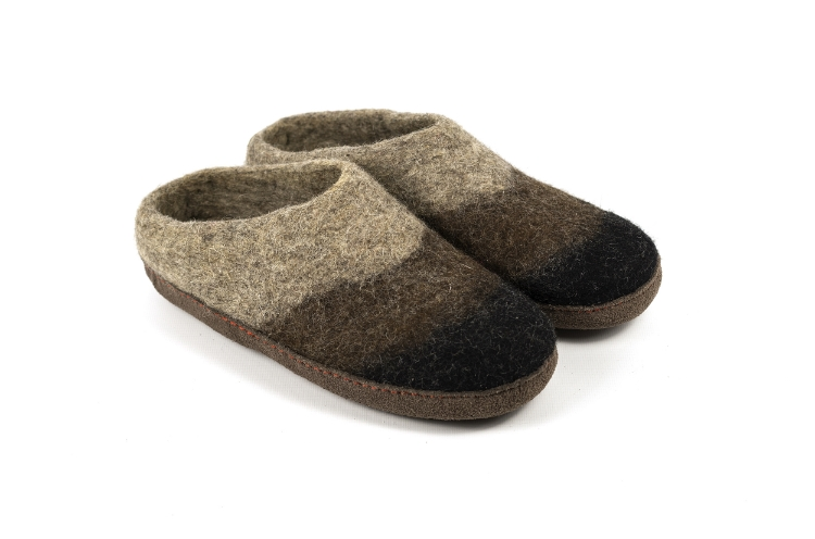 Heren vilt slippers