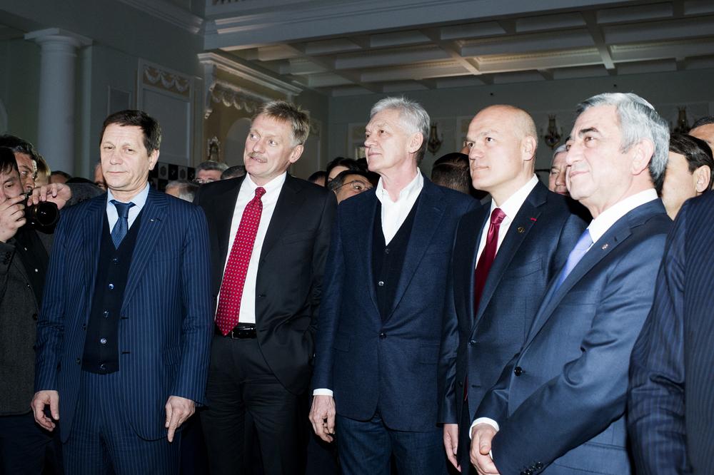 Aleksandr Zhukov : Dmitriy Peskov : Gennadiy Timchenko : Andrey Filatov : Serzh Sargsyan.jpg