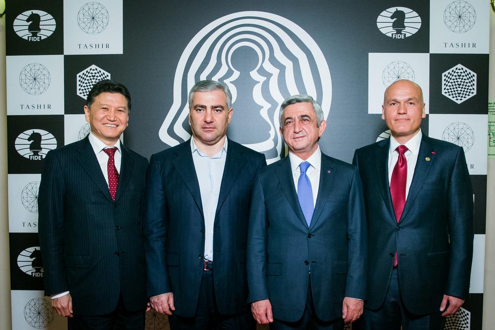Kiran Ilumzhinov : Samvel Karapetyan : Serzh Sargsyan : Andrey Filatov.jpg