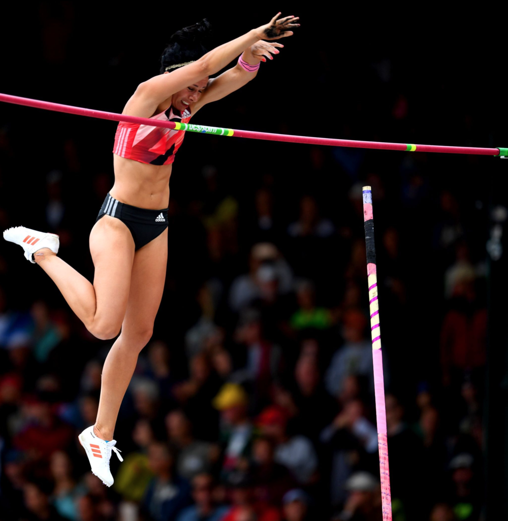 Jenn Suhr, the current Olympic and world champion in the pole vault, won the event at the trials and will try to defend her title in Rio.