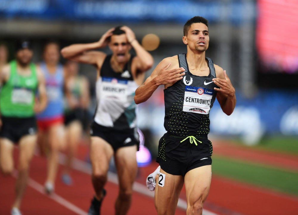 """Like father, like son."" It's a tattoo Matthew Centrowitz has in tribute to his father, Matt Sr., who was an All-American runner himself in college. Matt Jr. won the 1,500-meters at trials."