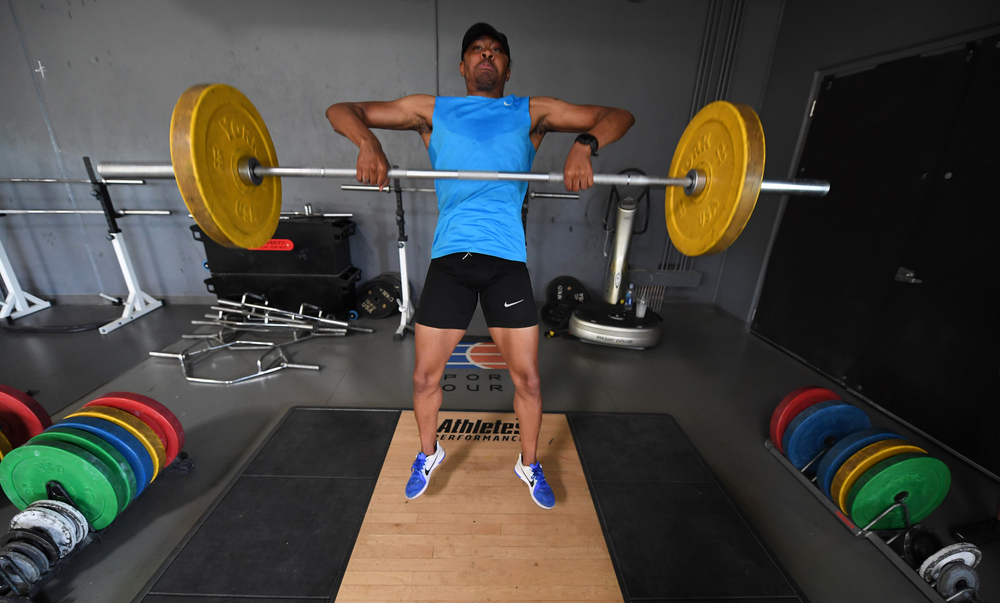 Running isn't enough for a world-class hurdler -- you must also lift weights to improve your strength. Given all that he has gone through, Merritt clearly is even stronger in his attitude and approach to life.