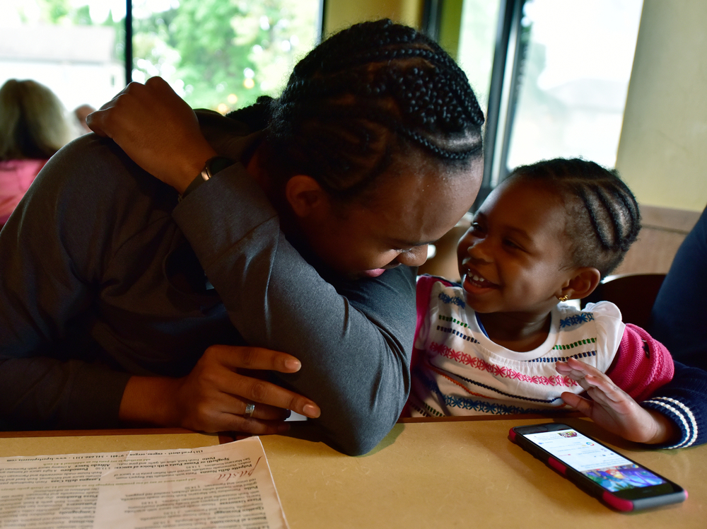 After the preliminaries, Merritt was somewhat fatigued. But dinner and meeting up with his 22-month-old niece, Lela, and his sister LaToya helped re-energize him -- just as his story should re-energize you.